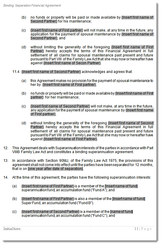 de facto relationship property settlement nsw