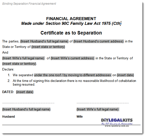separation agreement related keywords suggestions separation
