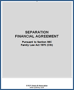 Separation Agreement 90C available for Instant Download