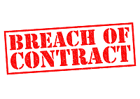 breach of lease or contract