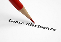 Retail lease disclosure