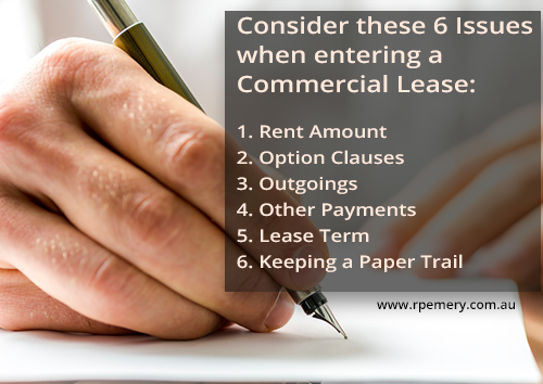 six issues commercial leases