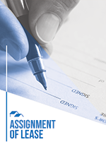 Assignment of lease cover