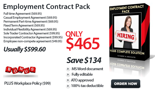 Employment Contract Pack Fair Work Compliant
