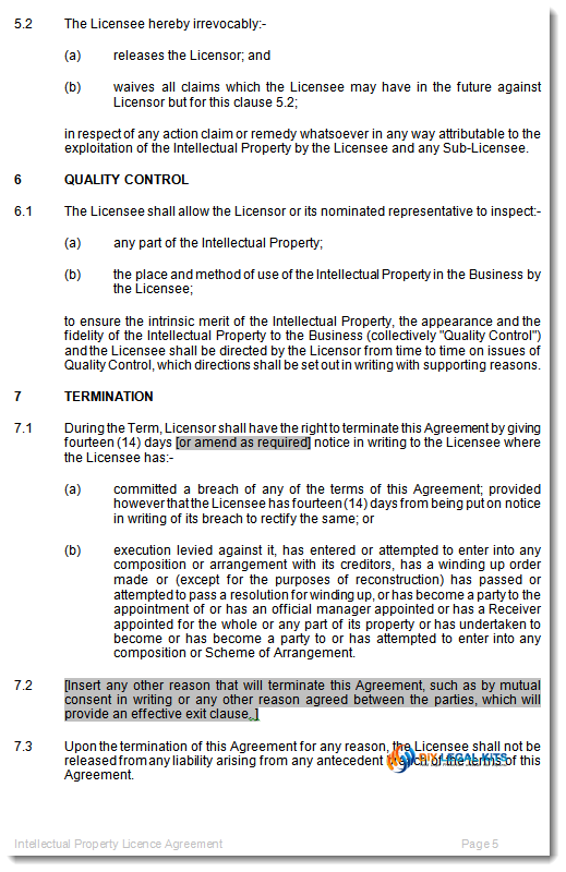 intellectual property licence agreement template.html