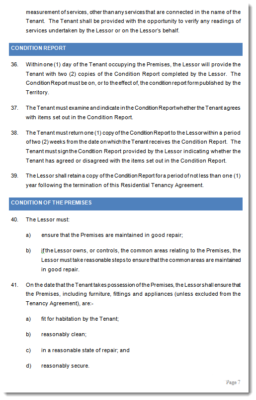 Sample 3 Residential Tenancy Agreement ACT