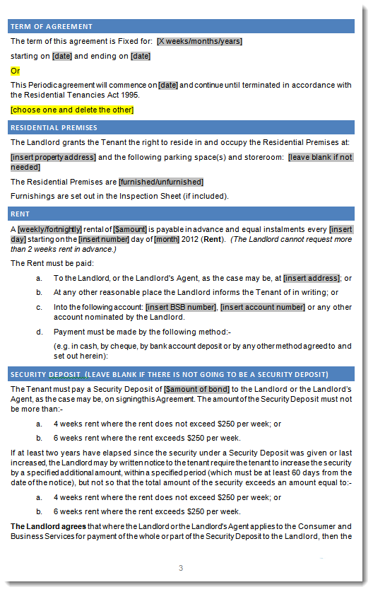Residential tenancy agreement south australia rental agreenent sa click through for enlarged sample image of sa residential tenancy lease platinumwayz
